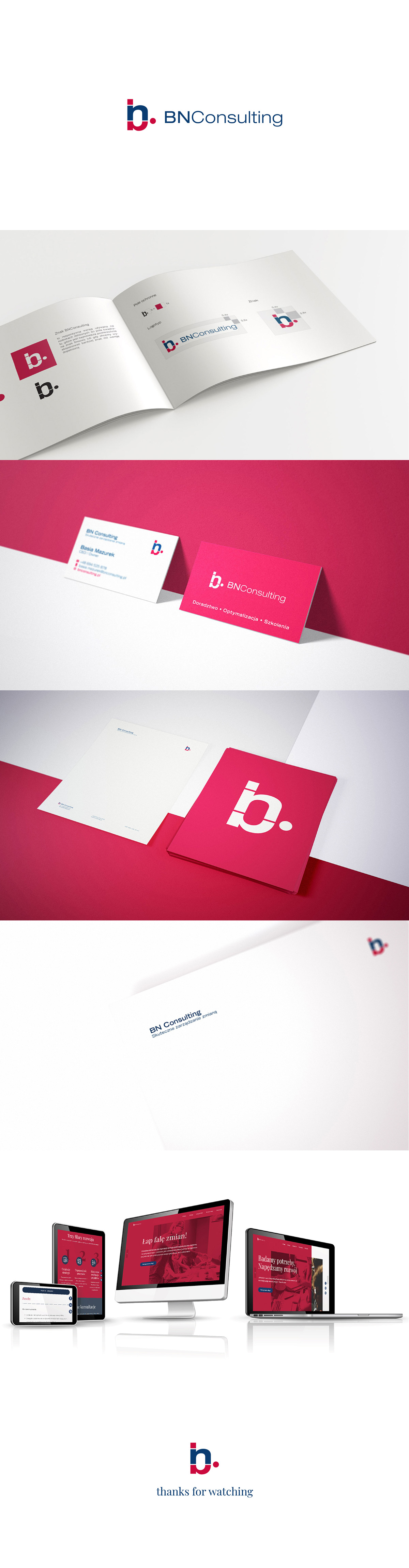 Graphic designs created for BNConsulting by You'll Marketing Agency